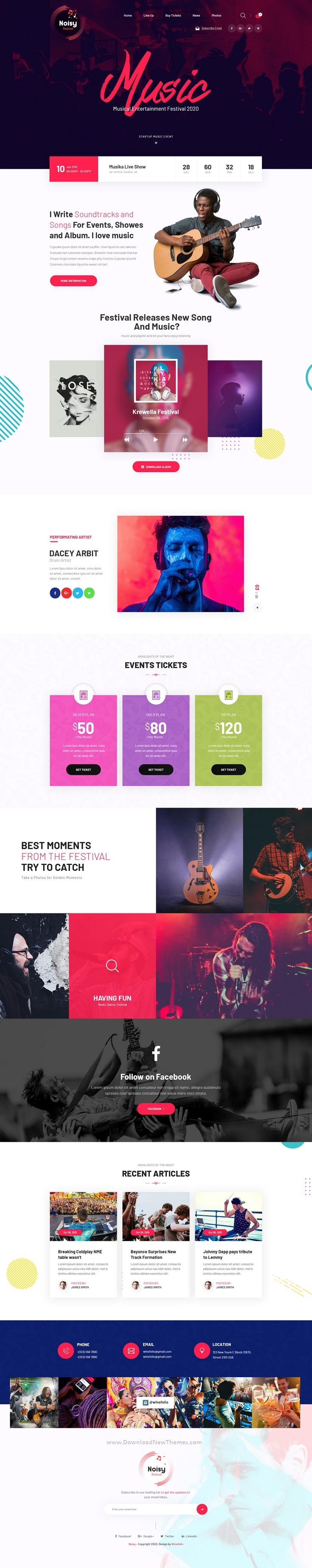 Music Adobe XD Template