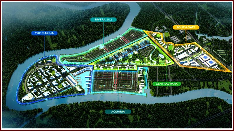 5 phân khu của khu đô thị Waterpoint