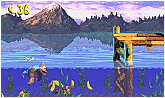 Donkey Kong Country 3 Dixie Kong's Double Trouble super nitendo
