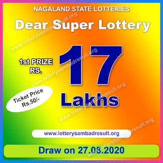 Dear Super Lottery Result 27-08-2020