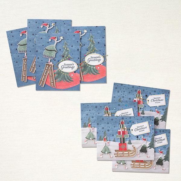 Stampin Up Kartenset Verspielte Weihnachten