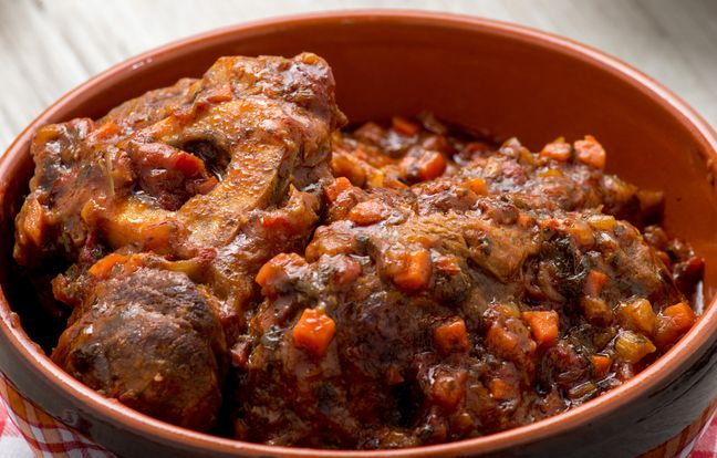 Osso bucco with market vegetables