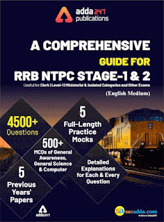 A Comprehensive Guide for RRB NTPC Stage 1 & 2 Book PDF download