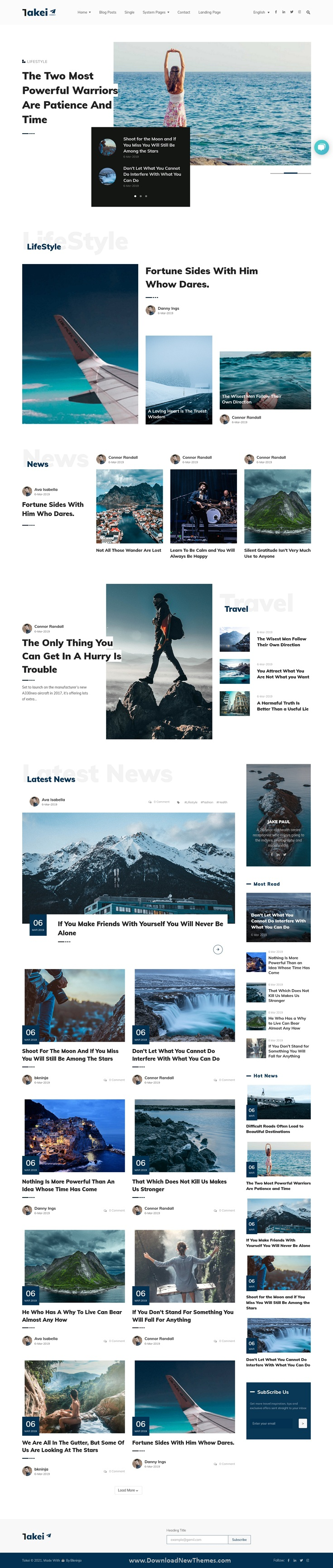 Blog and Magazine HubSpot CMS Theme
