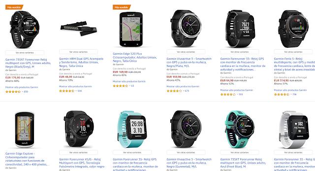 Amazon Espanha com grandes promoções em Relógios e GPS desportivos