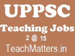 image : UPPSC Teaching Jobs 2015 @ TeachMatters.in