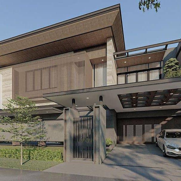 desain rumah minimalis cat hijau