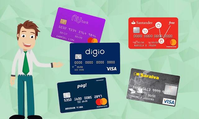 Confira alguns Cartões de crédito mais fáceis de aprovar pela internet. Veja lista com 6 opções