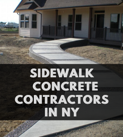 Sidewalk concrete contractors NY