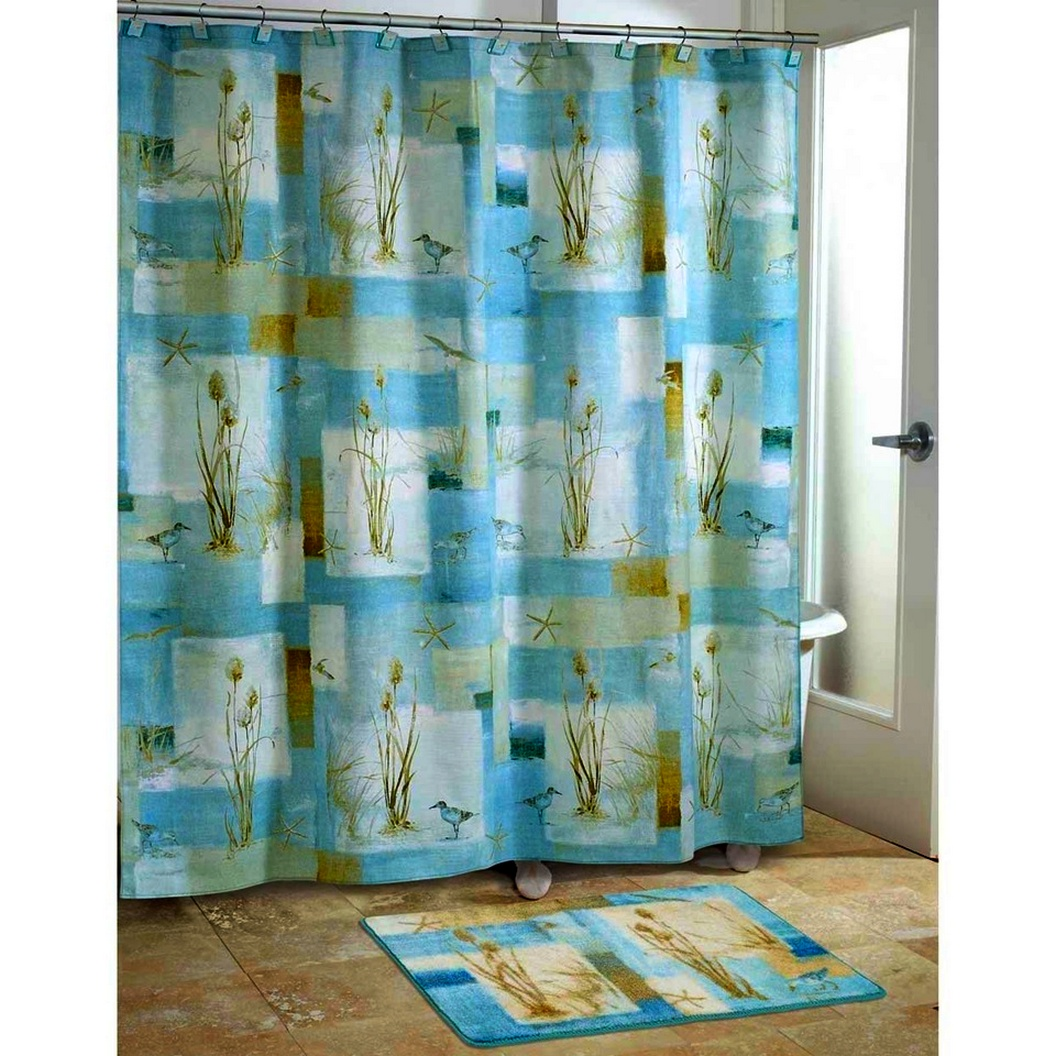 Bathroom curtains and accessories - Bathroom Curtains Offer Various Colors And Patterns For Example You Can Find Geometric Motifs Floral Motifs Or Batik Curtain Motifs