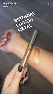birthday edition poppin metal gloss kylie jenner cosmetics reveal