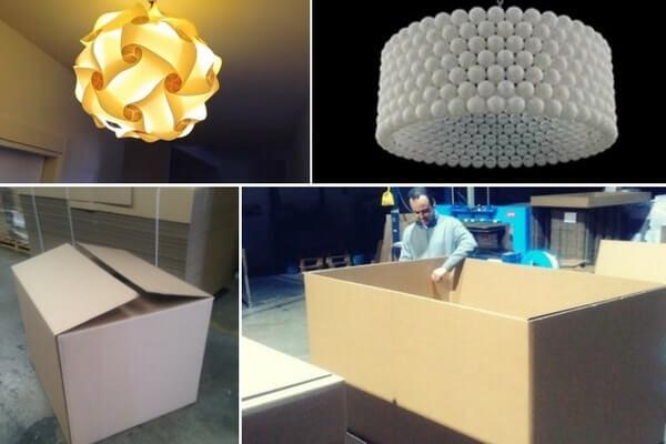 cajas para lamparas