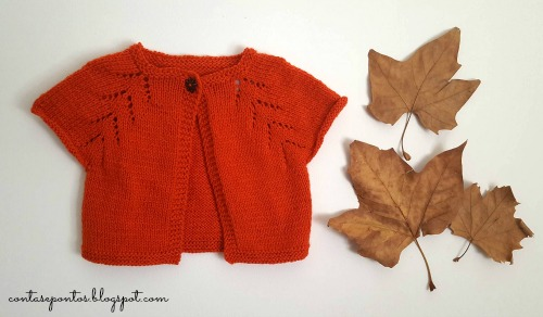Kids cardigan - knitting