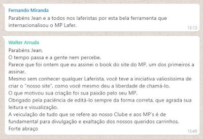 SITE DO MP LAFER CHEGA À MAIORIDADE: 18 ANOS