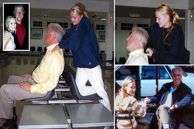 Foto Bill Clinton Dipijat Budak S*ks Epstein Guncang Konvensi Demokrat