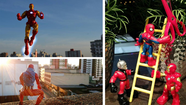 Apaixonado por brinquedos, Daniel Goulart da vida a seus personagens
