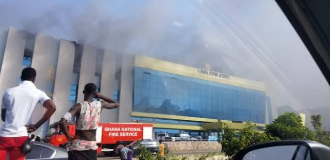 Ghana Revenue Authority fire: Fire officer hospitalised, two safes secured