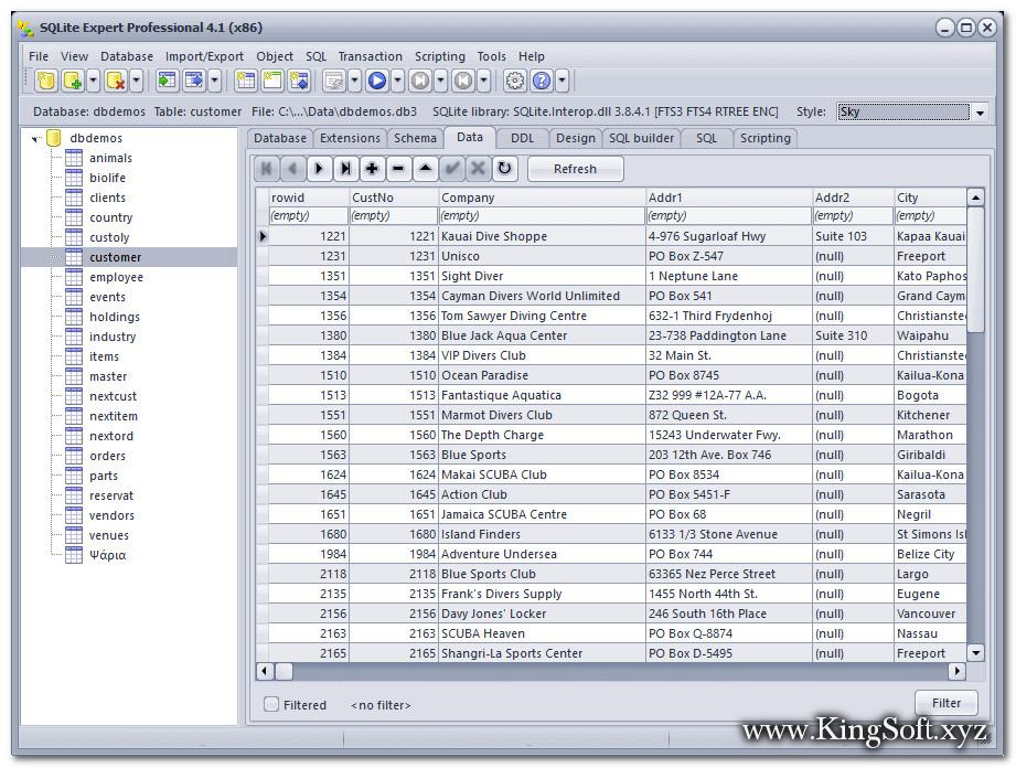 SQLite Expert Professional 5.3.0.334 Full Key, Phần mềm quản lý cơ sở dữ liệu nhỏ gọn.