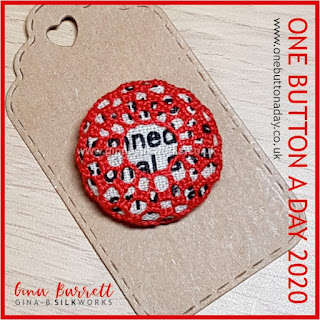 One Button a Day 2020 by Gina Barrett - Day 141 : Black & White & Red