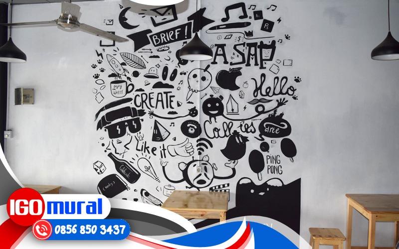 Contoh Lukisan Mural Doodle