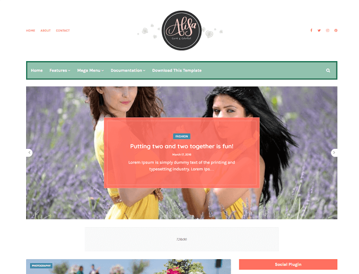 Alisa Blogger Template - Theme Blog cá nhân miễn phí