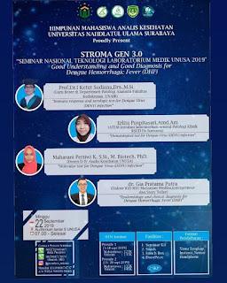 Seminar Nasional Teknologi Laboratorium Medik Universitas Nahdlatul Ulama Surabaya (STROMA GEN 3.0)