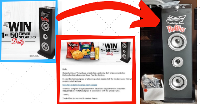 I won a Ruffles Speaker in the contest