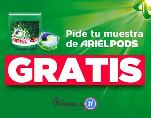 muestras gratis Ariel Pods