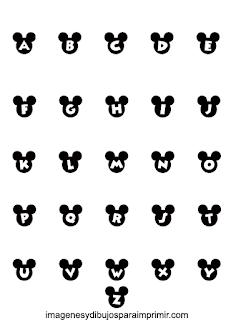 Letras en negro de orejas de mickey mouse