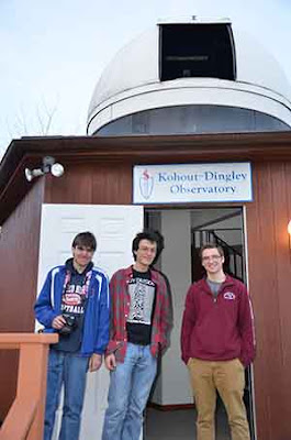 Image of Students Participating in a Visual Observing  Session at the Kohout-Dingley Observatory
