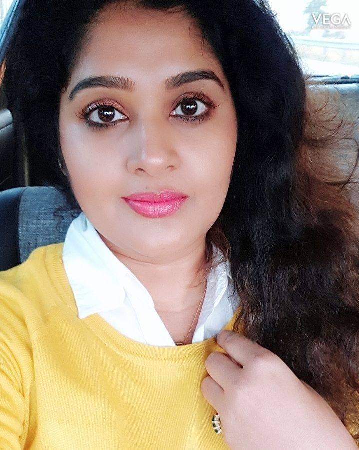 Telugu TV Actress Shailaja Priya Face Closeup Stills