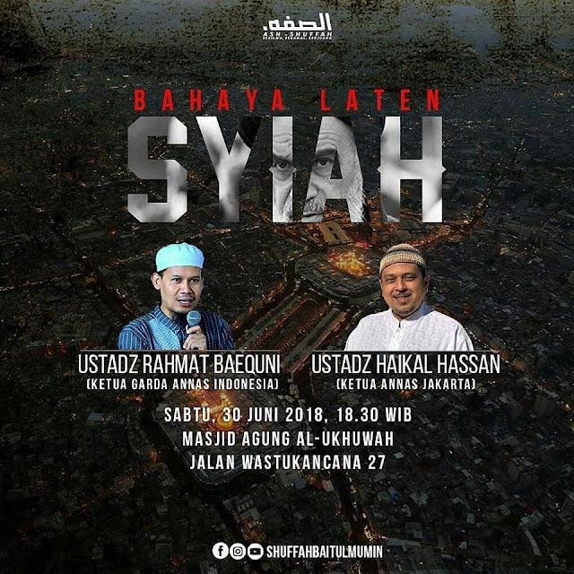 "Hadirilah Tabligh Akbar ""Bahaya Laten Syiah"" di Bandung"