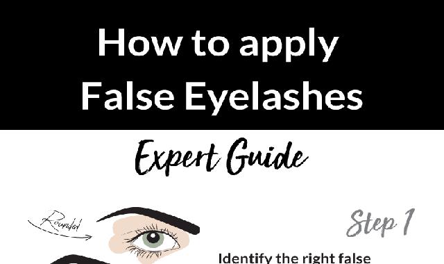 How To Apply False Eyelashes #infographic