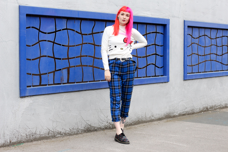 Alternative Fashion Blogger Foxxtailz Styles Hello Kitty ASOS Knit