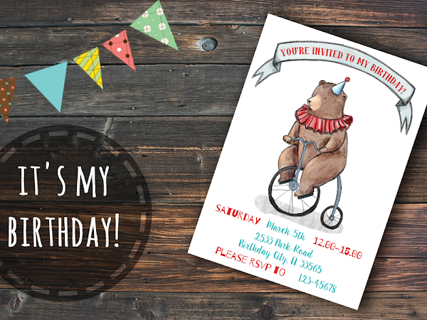 It's my birthday! - Printable birthday party invitation on Etsy