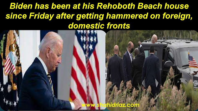 Biden vacations at Delaware beach house after week of heavy losses in Biden