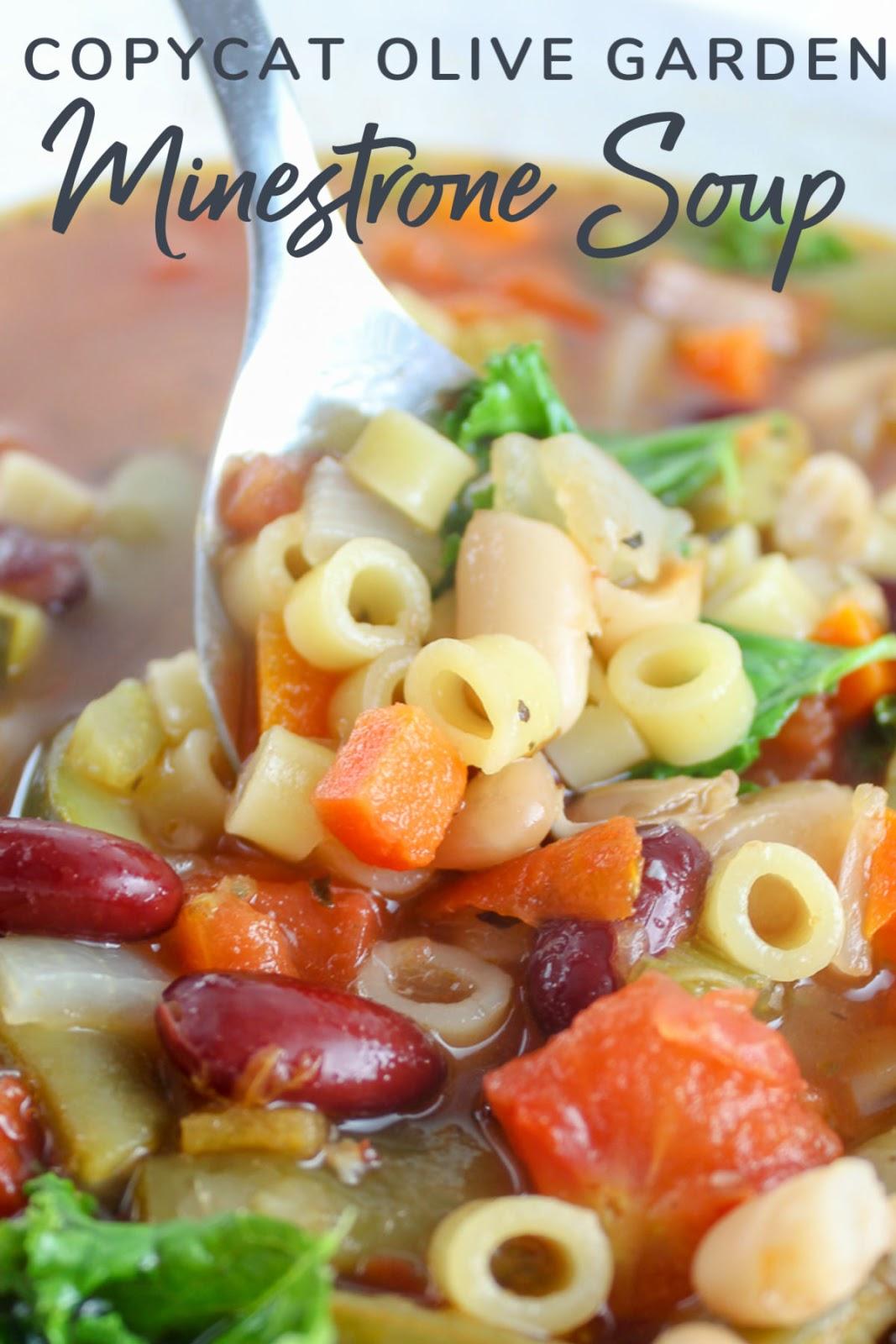 Copycat Olive Garden Minestrone Soup The Food Hussy