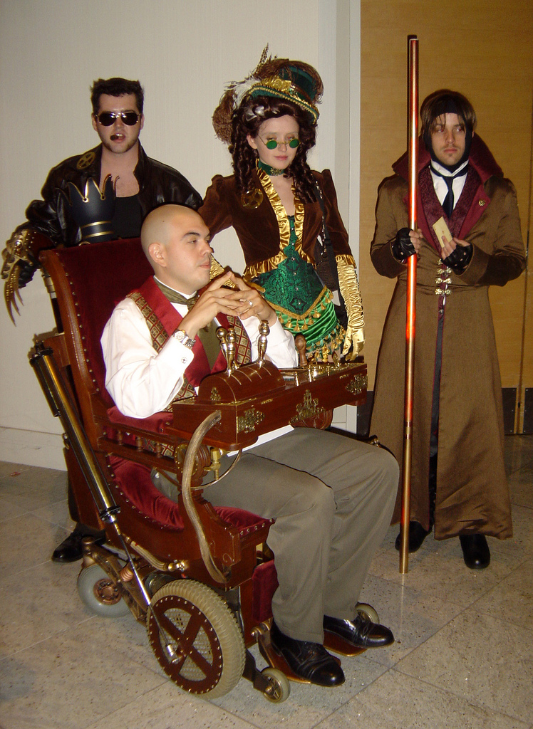 ... Professor X Rogue and Gambit. Apparently they won Best Literary Adaptation at the Friday Night Costume Contest. And the wheelchair was motorized ...  sc 1 st  The Geek Twins & Steampunk X-Men Costuming [Costumes] - The Geek Twins