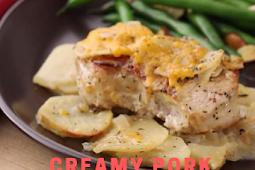 Creamy Pork Chops and Potatoes