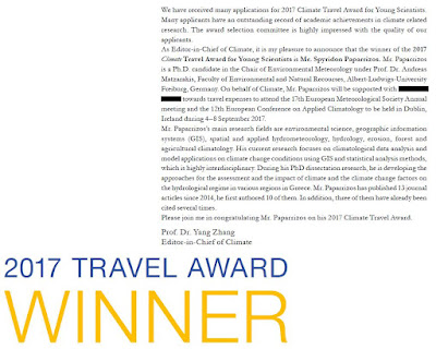 2017 Climate Journal Travel Award for Young Scientists
