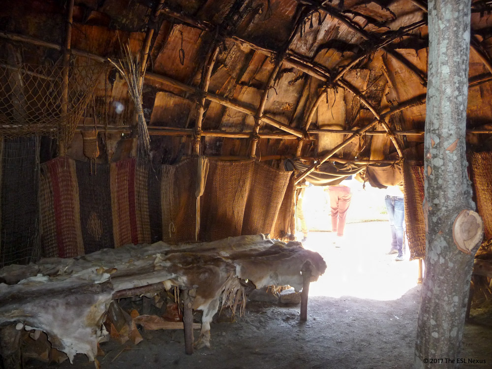 Compare & contrast Native American and Pilgrim cultures with these photos from Plimoth Plantation and the Wampanoag Homesite in Massachusetts.   The ESL Nexus
