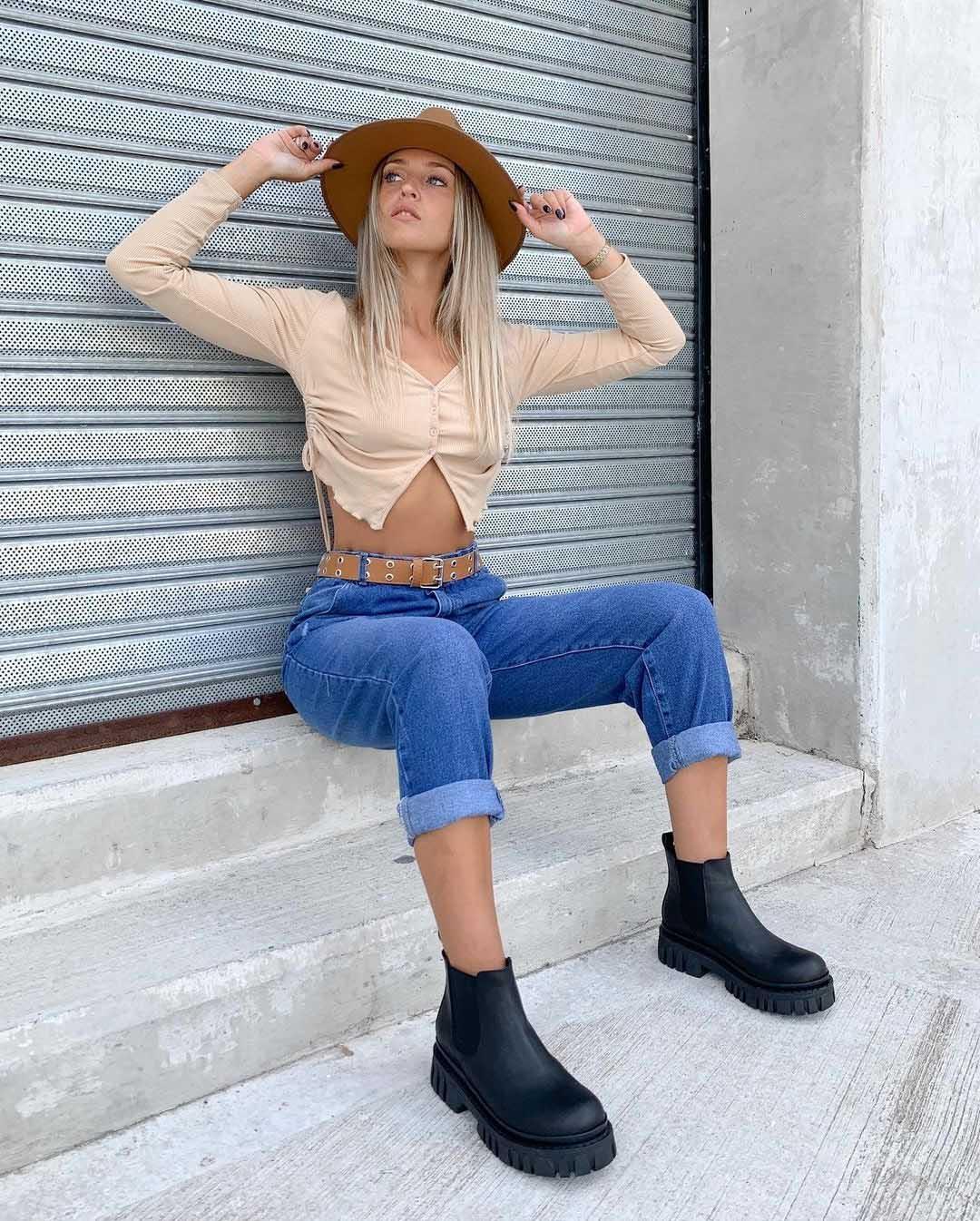 pantalones de jeans de moda 2021 invierno