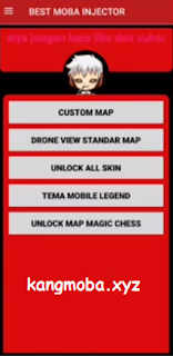 APK MOD Best Moba Injector Map + Unlock All Skin Mobile Legends