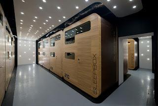 Los nuevos micro-hoteles que se alquilan por horas en los aeropuertos, Sleepbox