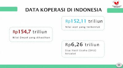 Data koperasi di Indonesia
