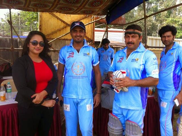 Bhojpuri Dabanggs Team Practice for CCL 5 (2014) in Mumbai : Photos