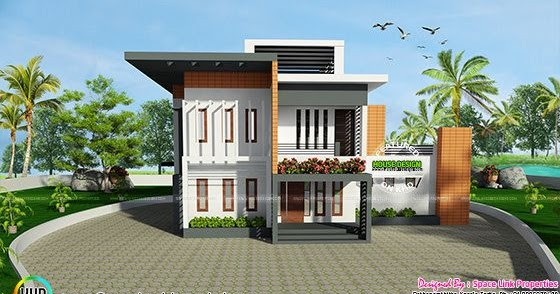 2717 Square Feet Contemporary Style Home Kerala Home