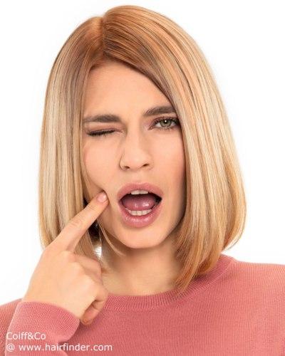 puedes llevarlo lacio por naturaleza o puedes hacer una transformacin favorecedora con alguna plancha de cabelloobteniendo xitos 100 relevantes - Cortes De Pelo Medio