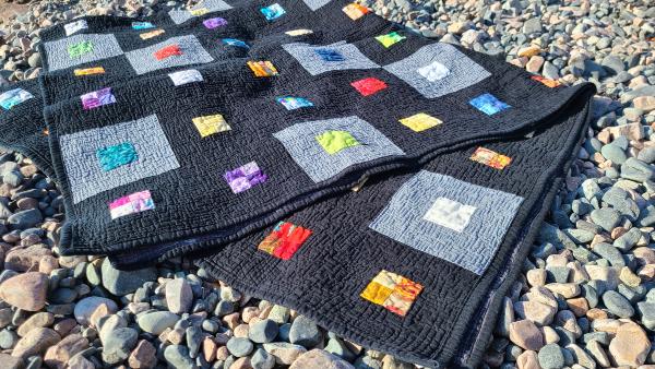 Scraps Squared quilt pattern | DevotedQuilter.com