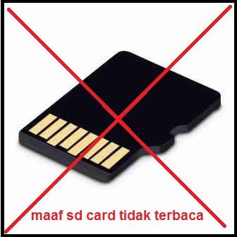 kartu memori tidak terbaca
